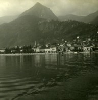 Italie Lac Majeur Cannero Panorama Ancienne Photo Stereo Possemiers 1900 - Stereoscopic