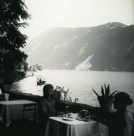 Suisse Lac De Lugano Grotto Helvetia Ancienne Photo Stereo Possemiers 1900 - Stereoscopic