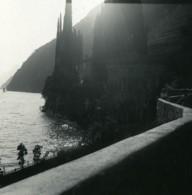 Italie Lac De Lugano Oria Villa Marchese Brusati Ancienne Photo Stereo Possemiers 1900 - Stereoscopic