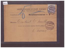 BANDE DE JOURNAL AVEC No ZUMSTEIN 56 ( PAPIER BLANC ) - SOCIETE VAUDOISE D'UTILITE PUBLIQUE ( PLI VERTICAL ) - 1882-1906 Armoiries, Helvetia Debout & UPU