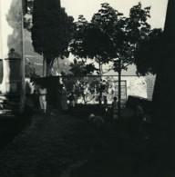 Italie Lac De Lugano Oria Place De L'église Ancienne Photo Stereo Possemiers 1900 - Stereoscopic