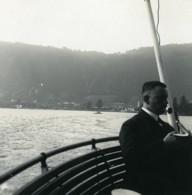 Suisse Lac De Lugano Melide Panorama Ancienne Photo Stereo Possemiers 1900 - Photos Stéréoscopiques