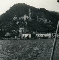 Suisse Lac De Lugano Morcotte Ancienne Photo Stereo Possemiers 1900 - Stereoscopic