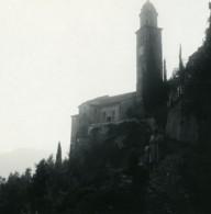 Suisse Lac De Lugano Morcotte Eglise Ancienne Photo Stereo Possemiers 1900 - Stereoscopic
