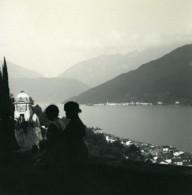 Suisse Lac De Lugano Morcotte Panorama Ancienne Photo Stereo Possemiers 1900 - Photos Stéréoscopiques