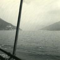 Italie Lac De Lugano Vue De Porto Ceresio Ancienne Photo Stereo Possemiers 1900 - Photos Stéréoscopiques