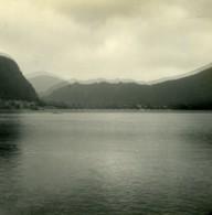 Suisse Lac De Lugano Vue De Ponte Tresa Ancienne Photo Stereo Possemiers 1900 - Photos Stéréoscopiques