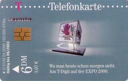 TARJETA TELEFONICA DE ALEMANIA. Deutsche Telekom - T-Digit En La EXPO 2000 (2). O0149 04.00 (439) - O-Series : Séries Client