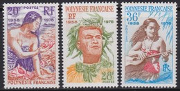 Polynésie    .     Yvert  .      121/123     .   **    .   Neuf SANS  Charniere     .    /    .   MNH - France (former Colonies & Protectorates)