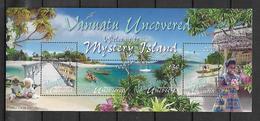 """VANUATU Tourism, """"Welcome To Mystery Island"""" Souvenir Sheet MNH LUX - Vanuatu (1980-...)"""