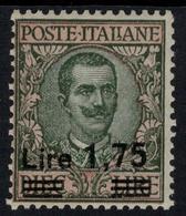 ITALIA 1925 VEIII 1,75 Su L.10 Nuovo Gomma Integra Sassone 185 - 1900-44 Victor Emmanuel III