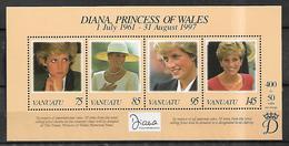 VANUATU 1998 Princes Diana Souveenir Sheet MNH LUX - Vanuatu (1980-...)