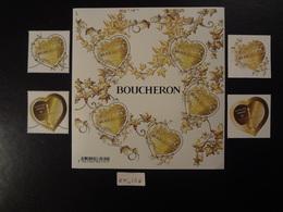 FRANCE 2019 BLOC FEUILLET COEUR BOUCHERON + 2 TIMBRES GOMMES + 2 TIMBRES ADHESIFS  Neuf** - Blocks & Kleinbögen