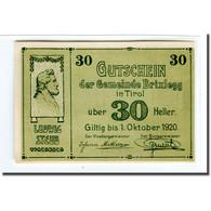 Billet, Autriche, Brixlegg, 30 Heller, Paysage 2, 1920, SPL, Mehl:104c - Autriche