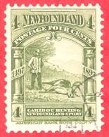 Canada Newfoundland # 63 O F/VF - Caribou Hunting - 4 Cents - 1865-1902