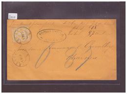 LETTRE AVEC No ZUMSTEIN 63A - 1882-1906 Armoiries, Helvetia Debout & UPU