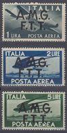 TRIESTE, OCCUPAZIONE ANGLOAMERICANA - 1947 - Lotto 3 Valori Nuovi MNH Posta Aerea: Yvert 1/3. - 7. Triest