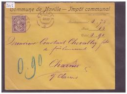 LETTRE AVEC No ZUMSTEIN 64A - COMMUNE DE NOVILLE - 1882-1906 Wappen, Stehende Helvetia & UPU