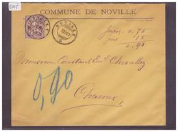 LETTRE AVEC No ZUMSTEIN 64B - COMMUNE DE NOVILLE - 1882-1906 Armoiries, Helvetia Debout & UPU