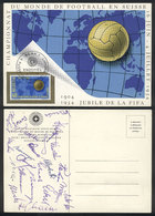 TOPIC FOOTBALL/SOCCER: Special Postcard Of The 1954 Football World Cup, Signed On Back By All The Players Of The German  - Non Classés