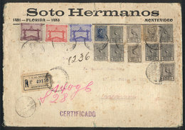 TOPIC FOOTBALL/SOCCER: Registered Cover Sent From Montevideo To Buenos Aires On 8/NO/1928, Franked By Sc.388/390 (Footba - Non Classés