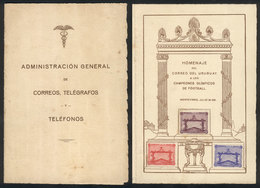 TOPIC FOOTBALL/SOCCER: Sc.388/390, 1928 Olympic Football Winners In The Olympic Games Of 1924 And 1928, Cmpl. Set Of 3 V - Non Classés