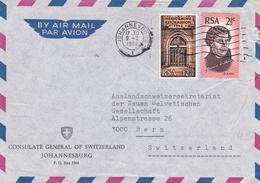 Johannesburg South Africa Zuid Afrika 1968 Consulate General Of Switzerland Bern Afrique Du Sud Consulat De Suisse - Afrique Du Sud (1961-...)