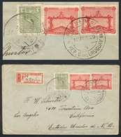 TOPIC FOOTBALL/SOCCER: Registered Cover Sent From AGENCIA NUEVA BERLIN To USA On 10/FE/1929, Franked By Sc.389 X2 (footb - Non Classés