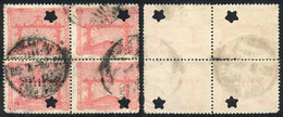 TOPIC FOOTBALL/SOCCER: Sc.389, 1928 5c. Olympic Football Winners, Block Of 4 With Punch Hole For Official Use (star), Ve - Non Classés