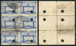TOPIC FOOTBALL/SOCCER: Sc.390, 1928 8c. Olympic Football Winners, Block Of 6 With Punch Hole For Official Use (star), Wi - Non Classés
