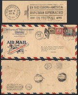 TOPIC FOOTBALL/SOCCER: Airmail Cover Sent From USA To Paraguay On 25/AP/1930, In Transit In Montevideo (Uruguay) It Rece - Non Classés