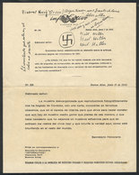 TOPIC JUDAICA: Leaflet Printed In Buenos Aires For The Magazine Informativo Of 21/JUN/1945 With An Interesting Comment A - Vieux Papiers