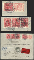 GERMANY: Michel S2.12 (with Advertising Label For AQUADENT) + 10Pg. Strip Of 3, Franking An Express Cover Sent From Dres - Allemagne