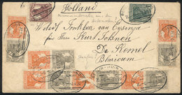 GERMANY: Cover Sent From Berlin To Netherlands On 8/AU/1929 With Spectacular Postage That Includes Several Se-tenant Pai - Allemagne