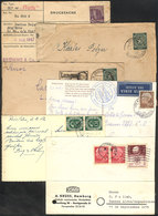GERMANY: 6 Covers Or Cards Sent To Argentina Between 1947 And 1955, Including An EROS Charity Card, Interesting! - Allemagne