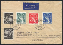 GERMANY: Interesting Combination Of Stamps Of West Berlin And DDR: Cover Franked By DDR Michel 245 X2 And Berlin Mi.68/7 - Allemagne