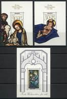 """WEST GERMANY: 3 Souvenir Sheets Overprinted Muster (specimen), Topic Christmas, VF!"""" - [7] République Fédérale"""