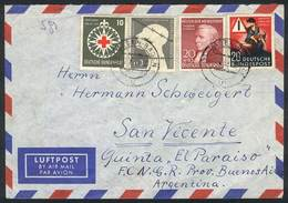 WEST GERMANY: 3 Covers Sent To Argentina Between 1953 And 1954, Nice Postages, VF Quality! - [7] République Fédérale