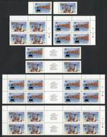 ANGUILLA: Sc.646/7, 1985 Intl. Youth Year, Set Of 2 Values + Blocks Of 4 + Gutter Pairs + Gutter Blocks Of 8, VF Quality - Anguilla (1968-...)