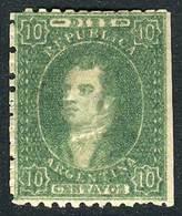 ARGENTINA: GJ.23, Worn Impression, MINT WITH ORIGINAL GUM (very Rare!), VF Quality, Catalog Value US$100 + 200% - Argentine