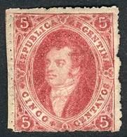 ARGENTINA: GJ.33, One Of The Few Known UNUSED Examples, Fine Quality, Rare, Catalog Value US$1,000, With Alberto Solari  - Argentine