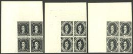ARGENTINA: GJ.R15/R17, Liechtenstein Reprints, Corner Blocks Of 4, Superb! - Argentine