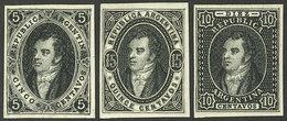 ARGENTINA: GJ.15/17, Liechtenstein Reprints Of The Year 1924 Made With The Original Plates, Refurbished, Cmpl. Set Of 3  - Argentine