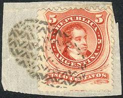 ARGENTINA: GJ.38, On Fragment With Mute Cancel Of SAN LUIS, Excellent! - Argentine