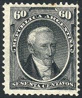 ARGENTINA: GJ.43, 1867 60c. Posadas, Mint Original Gum, VF Quality, Rare! - Argentine