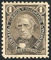 ARGENTINA: GJ.99, 1889 1c. Velez Sarsfield With Very Visible Globes Wmk, Mint Original Gum, VF, Scarce! - Argentine