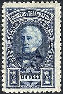 ARGENTINA: GJ.115, 1889 1P. San Martín, Mint Very Lightly Hinged, Excellent! - Argentine
