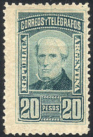 ARGENTINA: GJ.118, 1889 20P. Brown, Mint, Very Fine Quality, Rare! - Argentine