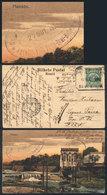 BOLIVIA: 2 Postcards Sent In 1924 From RIBERALTA (Beni, In The Frontier With Brazil), To Argentina, Via Brazil (Porto Ve - Bolivia