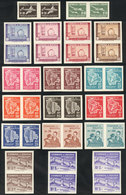BOLIVIA: 18 Different Imperforate Pairs, Very Thematic: Oil Refinery, Airplane, Map, Economy Etc. All MNH And Of Excelle - Bolivia